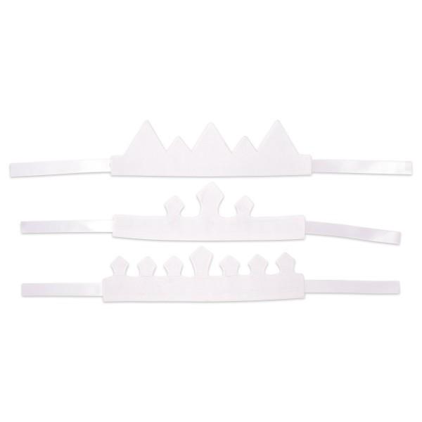 Baumwoll-Kronen 3er-Set ca. 80x9x12cm weiß 100% Baumwolle