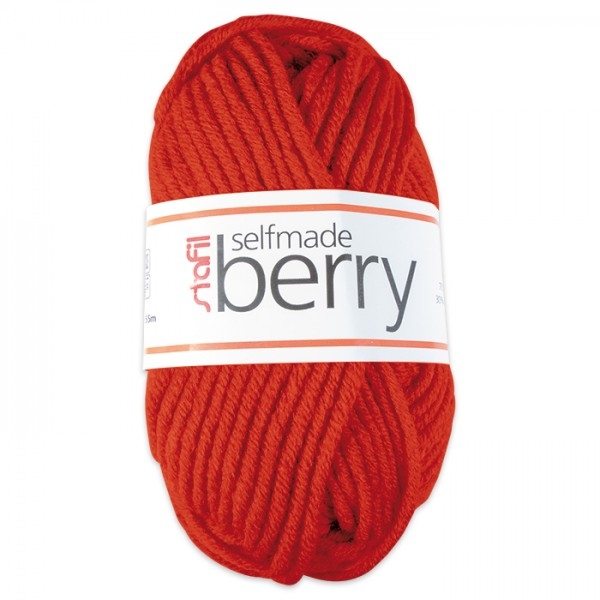 Wolle Berry 6-7mm 50g orange 70% Polyacryl, 30% Wolle
