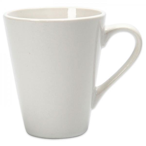 Tasse Porzellan Ø 5-8x10cm hoch weiß