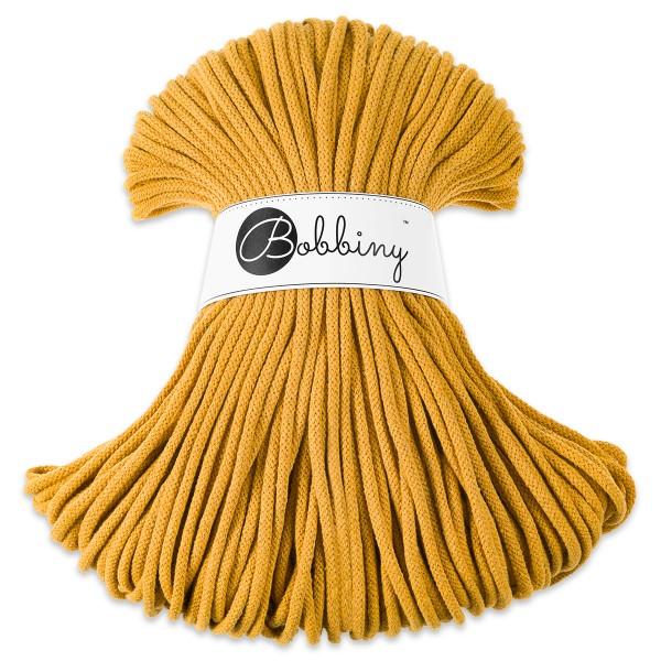 Bobbiny Rope-Garn Premium Ø5mm mustard ca. 400g-500g, 100% Baumwolle