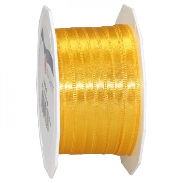 Satinband 10mm 25m gelb 100% Polyester