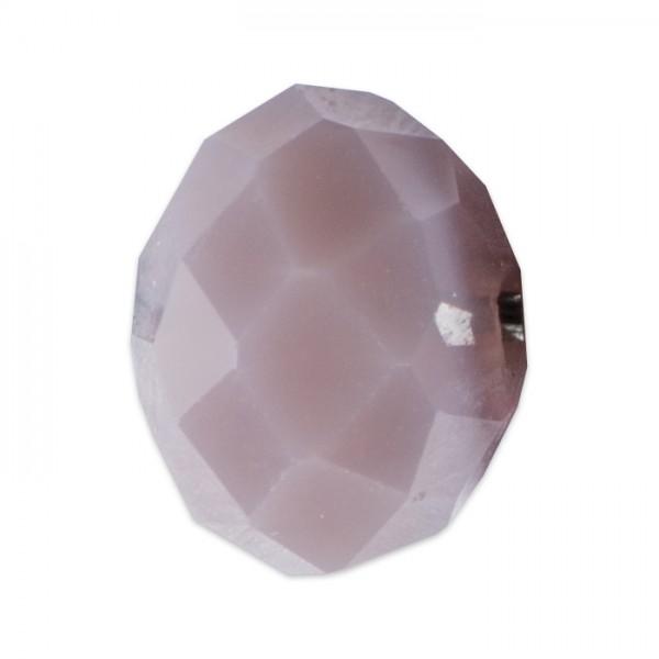 Facettenschliffperlen 6mm 30 St. violett pastellfarben, feuerpoliert, Glas, Lochgr. ca. 1mm