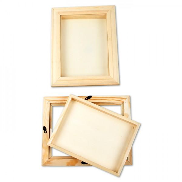 3D-Rahmen Holz/Glas 18x24x2,5cm natur