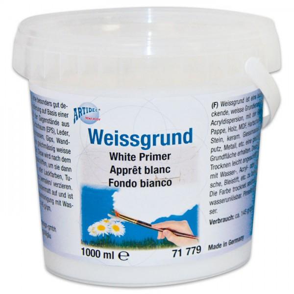 Weißgrund Grundierung 1.500g/1.000ml saugende Untergründe