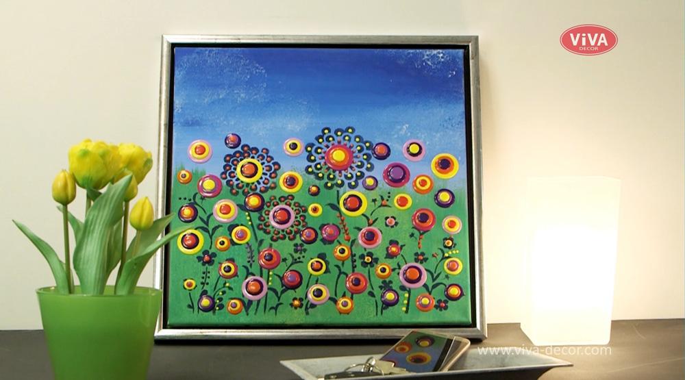"""Video """"Viva Blob Painting - Blumenwiese"""