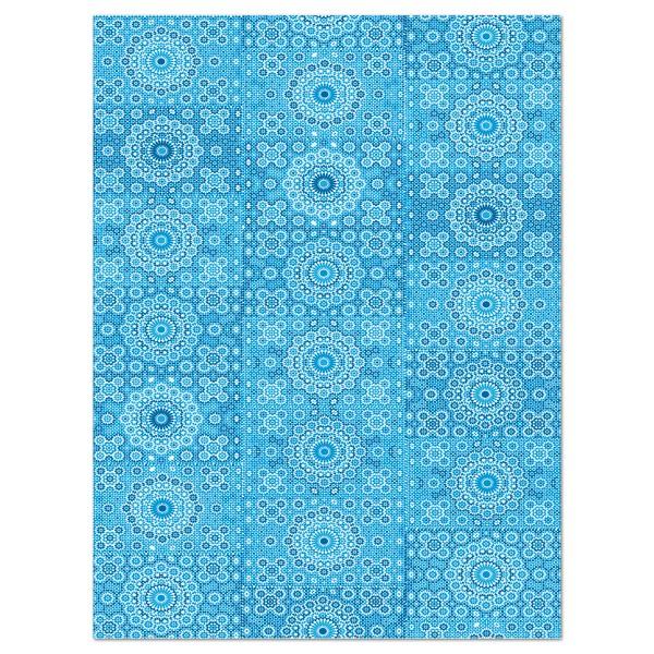 Decoupagepapier Ornament blau von Décopatch, 30x40cm, 20g/m²