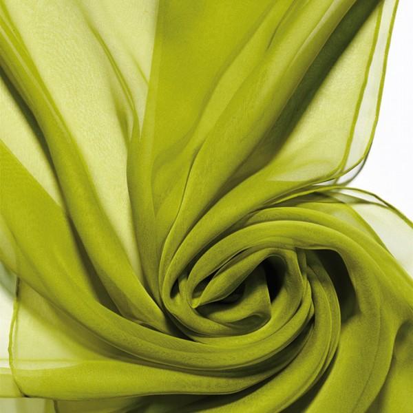 Schal Chiffon 3,5 55x180cm limone 100% Seide