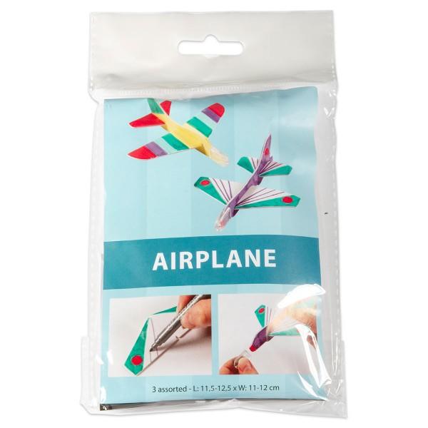 Flugzeug-Teile Länge 11,5-12,5cm 3 Modelle weiß Breite 11-12cm, Schaumkunststoff mit Papieroberfläch