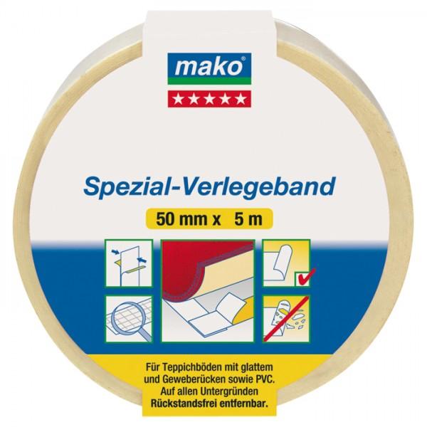 mako doppelseitiges Verlegeband/Klebeband 50mm 5m wieder ablösbar