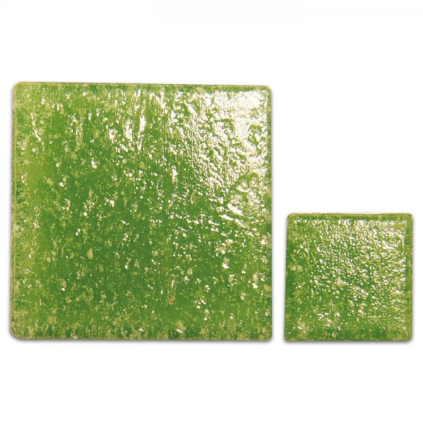 Glasmosaik Joy 20x20x4mm 200g lindgrün ca. 70 Steine