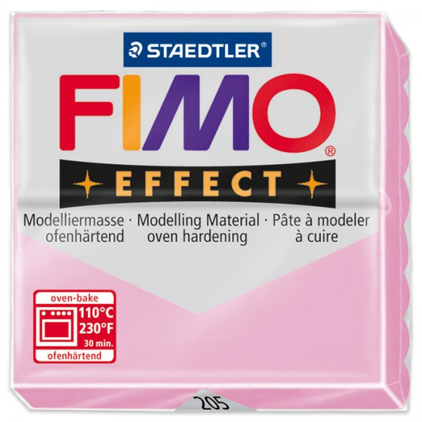 FIMO effect 55x55x15mm 57g pastell rosé ofenhärtende Modelliermasse