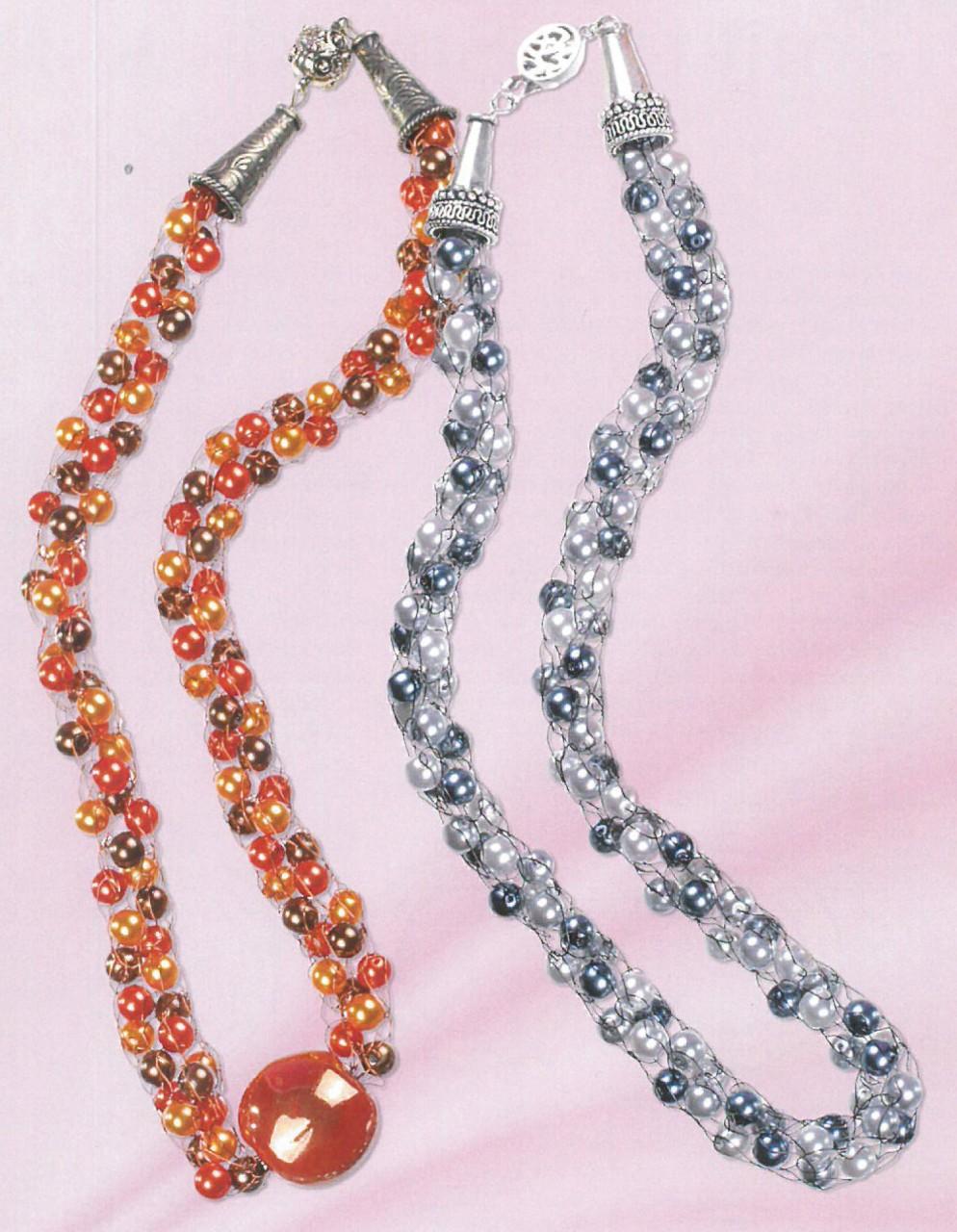 Perlen - raffiniert gestrickt mit der Strickliesel ...