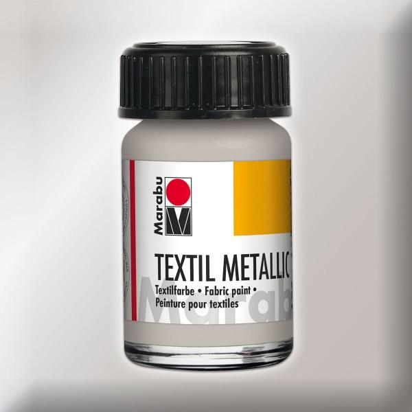 Marabu Textil Metallic 15ml silberfarben