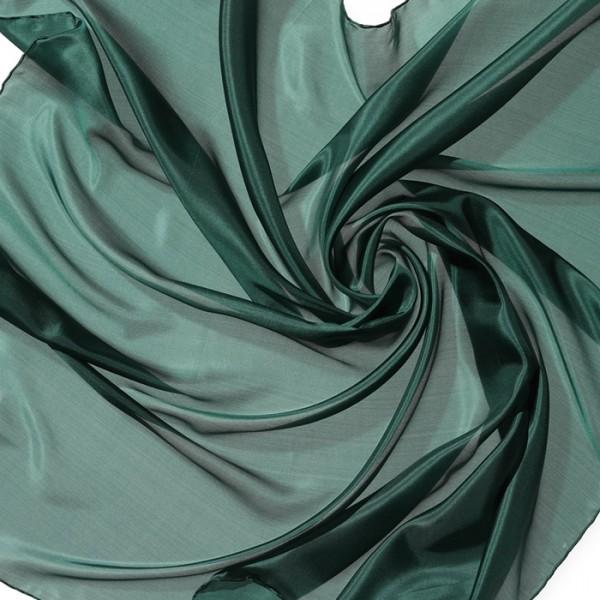 Nickituch Seide Pongé 05 55x55cm waldgrün 100% Seide