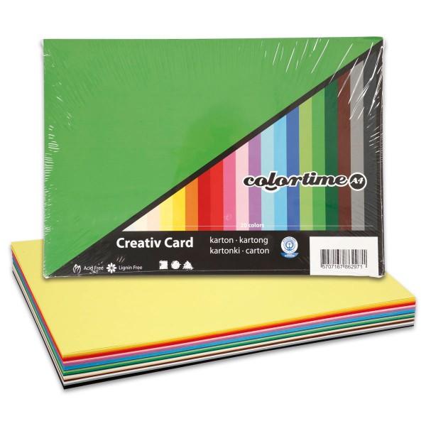 Tonkarton 180g/m² DIN A2 20 Bl./Farben