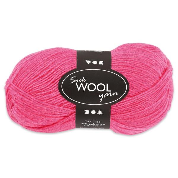 Sockenwolle 50g pink 75% Wolle, 25% Polyamid, für Nadel Nr. 2,5-3