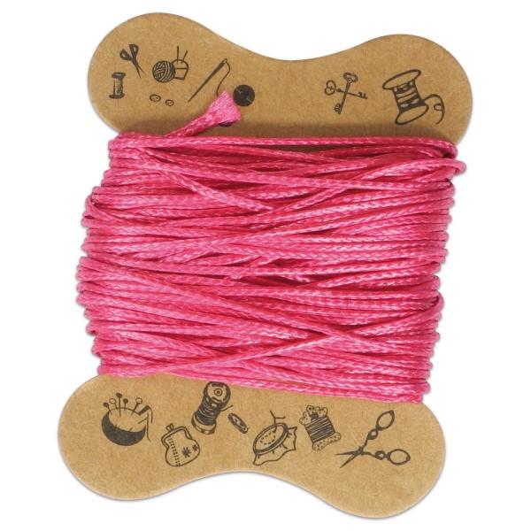 Kordel gewachst 0,5mm 10m fuchsia 100% Baumwolle