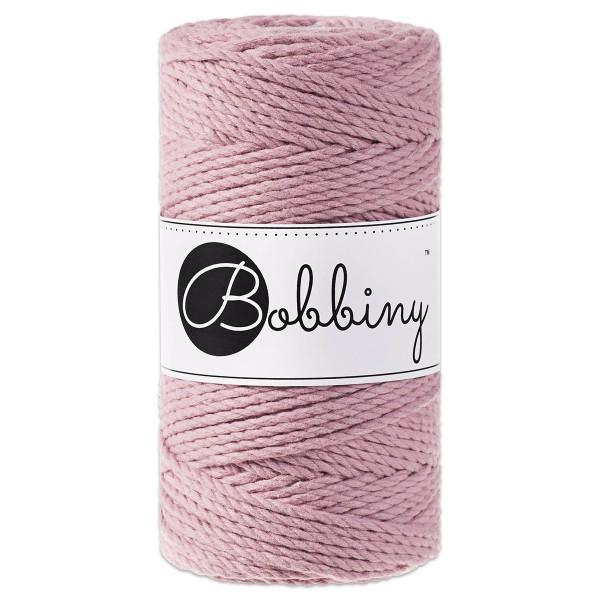 Bobbiny 3PLY Makramee Kordel Ø3mm dusty pink ca. 300g-400g, 100% Baumwolle, LL 100m, 3x20 Fasern