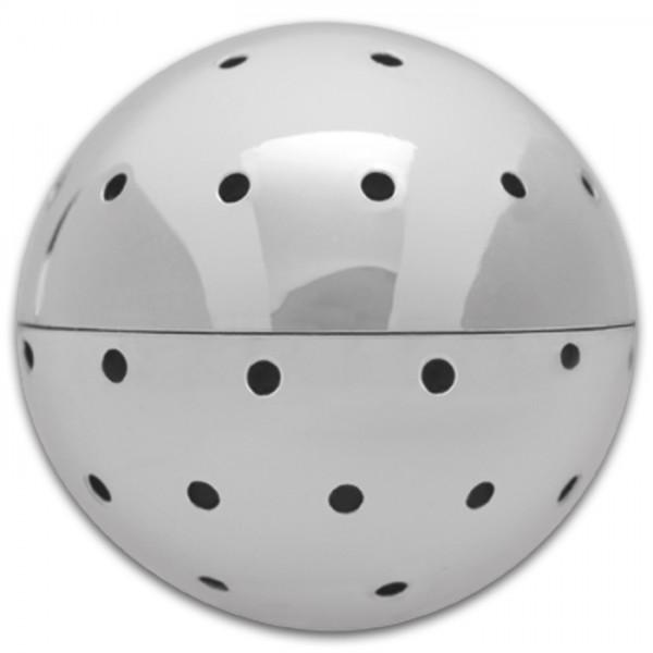Zauberperle 3D Metall Kugel 27mm platinfarben Nietstifte 30/50/70mm, f. Perlen mit Lochgr. 0,9mm