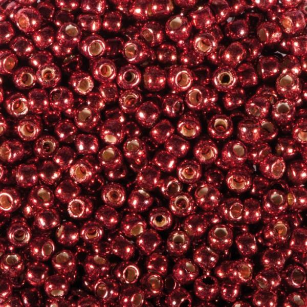 TOHO-Beads Glas 2,2mm 9g rot metallic Lochgr. ca. 0,9mm