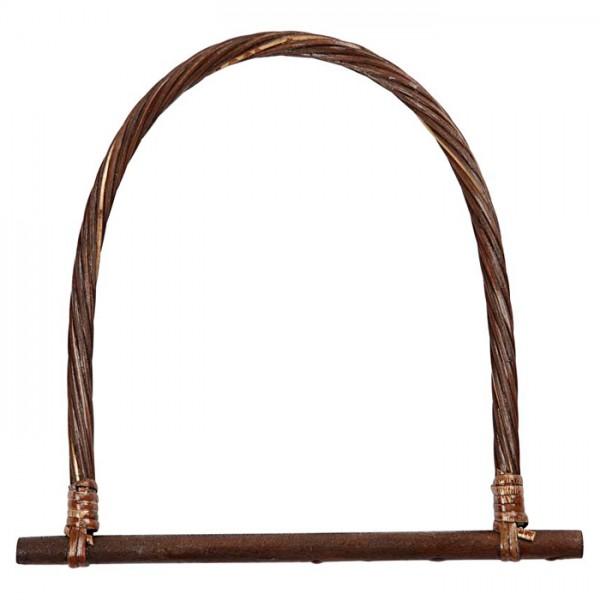 Taschengriff dunkler Bambus 23x21,5cm 1 St. U-Form, leicht lackiert