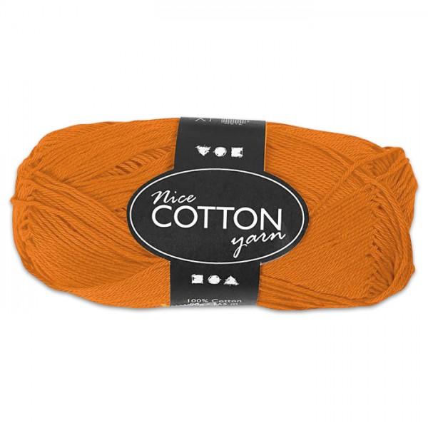 Baumwollgarn 50g orange 100% Baumwolle, für Nadel Nr. 4