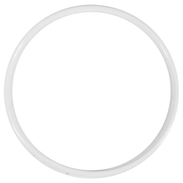 Metallring/Drahtring rund weiß 3mm Ø 8cm