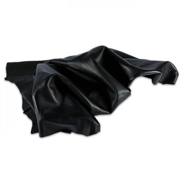 Lammnappa Leder ca. 1mm stark 1 Haut schwarz 1 Haut entspricht mind. 0,5m²