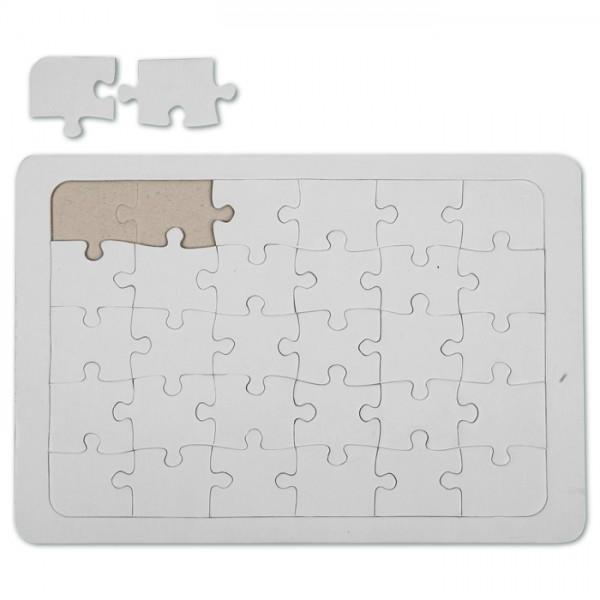 Puzzle Pappe A5 15x21cm 30 Teile weiß
