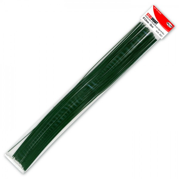 Stieldraht 1,2mm 30cm 15 St. grün