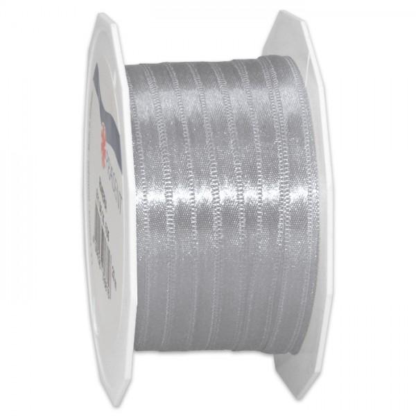 Satinband 10mm 25m sterlingsilber 100% Polyester