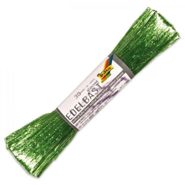 Edelbast glänzend Kunstfaser 30m hellgrün