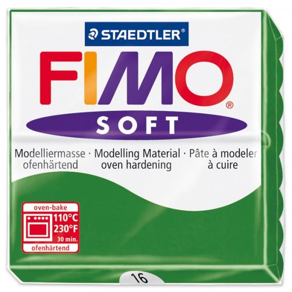 FIMO soft 55x55x15mm 57g tropischgrün ofenhärtende Modelliermasse