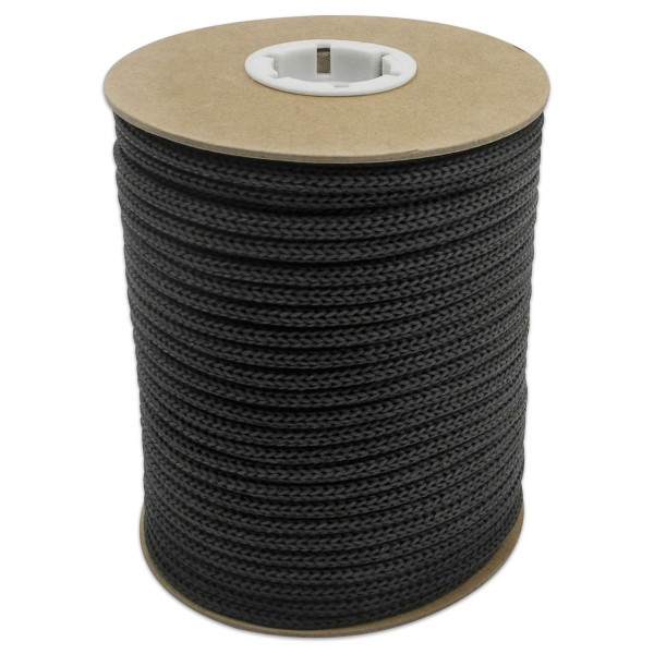 Makramee-Garn - Kordel aus Papier 4mm 30m schwarz aus recyceltem Material