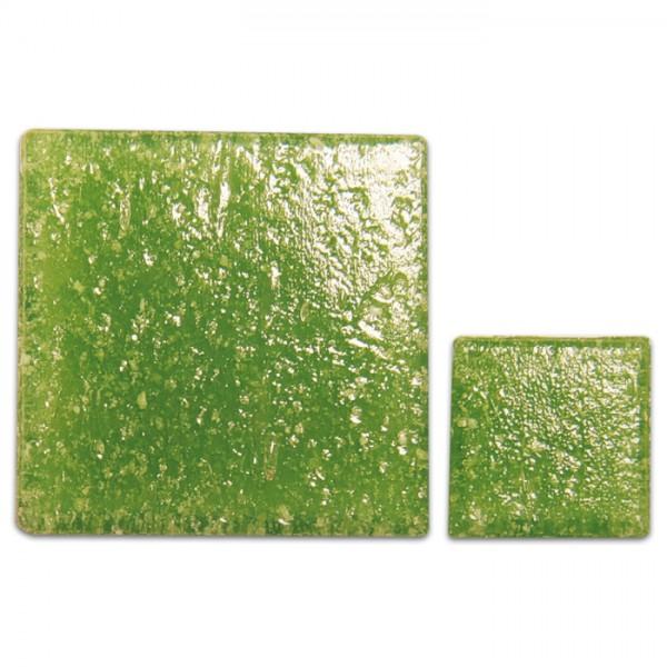 Glasmosaik Joy 10x10x4mm 200g lindgrün ca. 290 Steine