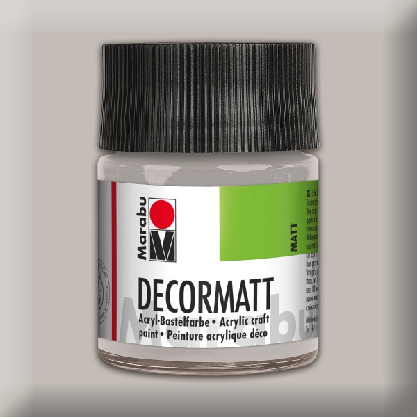 Decorlack Acryl matt 50ml metallic silber