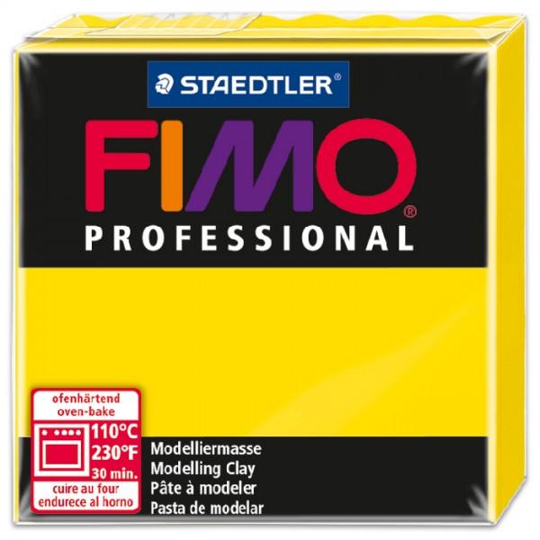 FIMO professional 55x55x24mm 85g zitronengelb ofenhärtende Modelliermasse