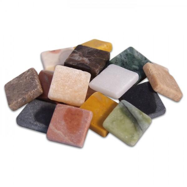 Marmorsteine 10x10x4mm 1kg Mischung ca. 1000 Steine