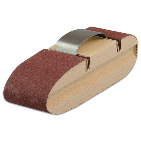 Schleifklotz Holz Metallbugel 130x37x34 Schleifen Polieren
