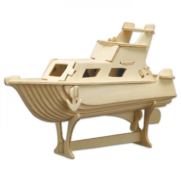 Holzbausatz Yacht 22x16cm 45 Teile vorgestanzt, zum Zusammenstecken