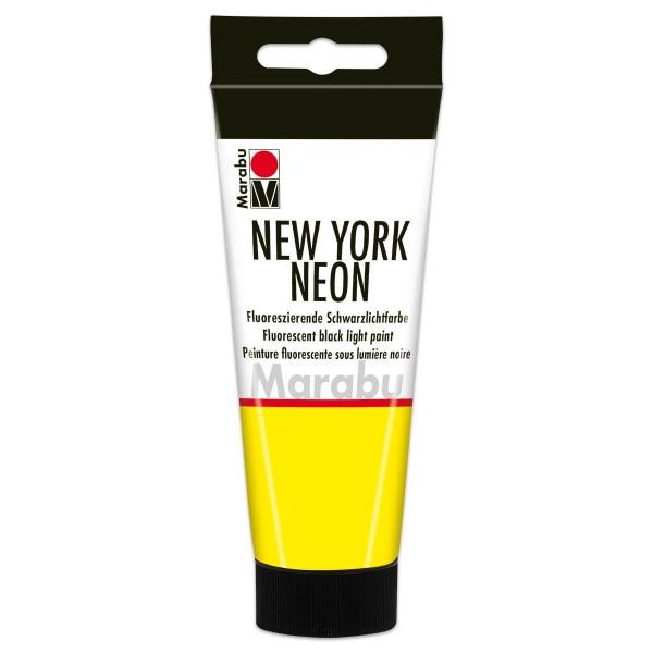 New York Neon Schwarzlichtfarbe 100ml neon-gelb fluoreszierende Tagesleuchtfarbe