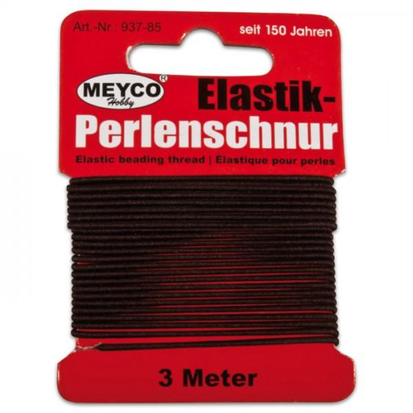 Elastik-Perlenschnur 0,9-1mm 3m braun 20% Polyester, 80% Elastodien (Latex)
