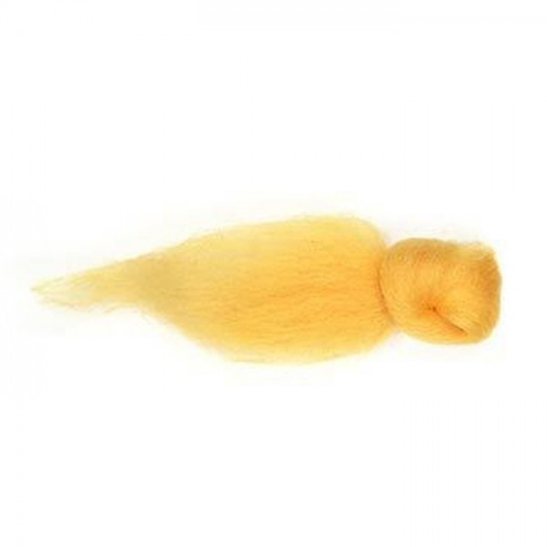 Kammzugwolle Merino 50g goldgelb 100% Wolle vom australischen Merinoschaf, max. 19mic