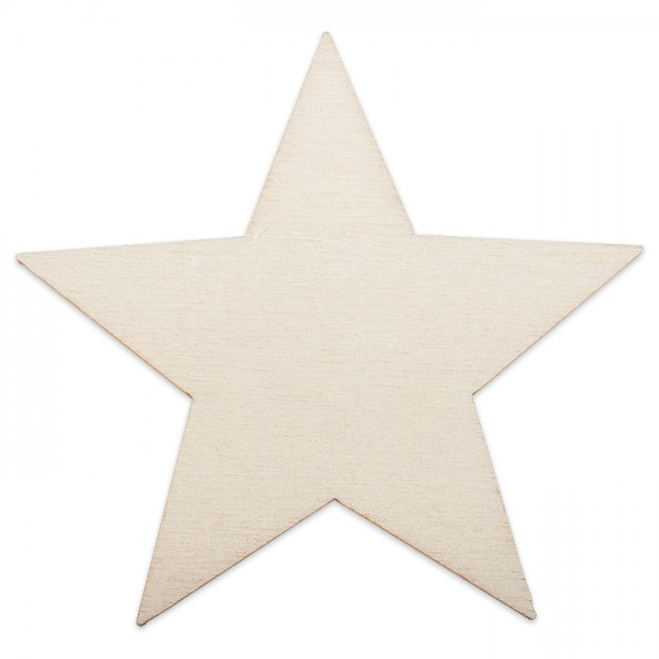 Holzmotiv Stern 3mm stark ca. 6cm natur