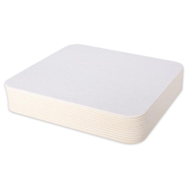 Blanko-Bierdeckel Karton 9,3x9,3cm 100 St. natur