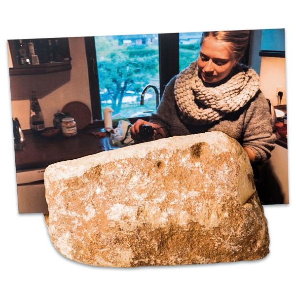 Fotohalter Speckstein ca. 600-700g ca. 120x65x75mm Form&Farbe zufällig, Maße variieren