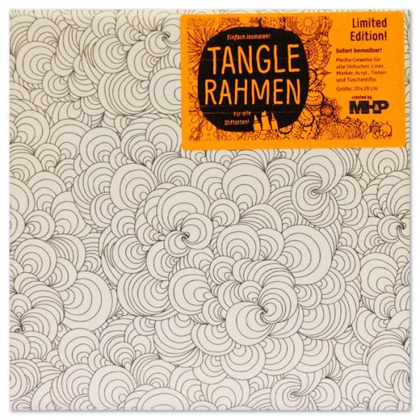 Tangle-Keilrahmen 20x20x2cm Muschelberg