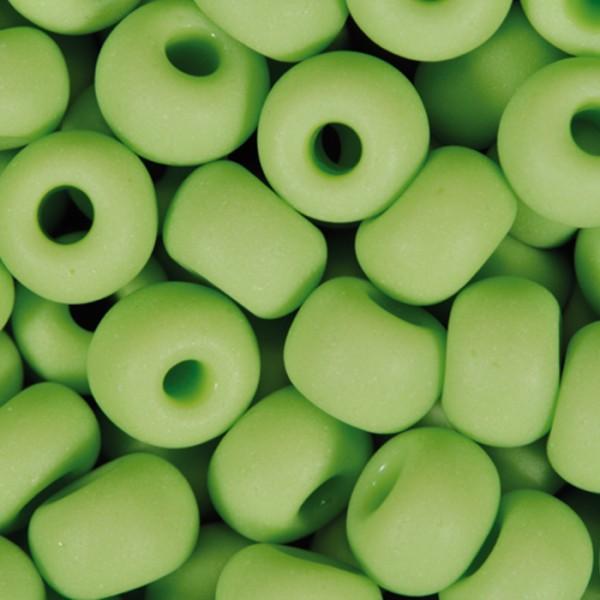 Rocailles satt matt 4,5mm 17g hellgrün Glas, Lochgr. ca. 1mm