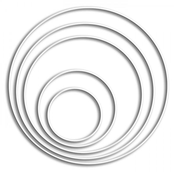 Metallring/Drahtring rund weiß 3mm Ø 12cm