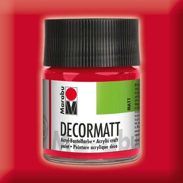 Decorlack Acryl matt 50ml kirschrot